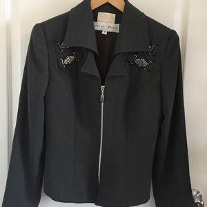 Alberto Makali Wool Zipper Lined Jacket hardware